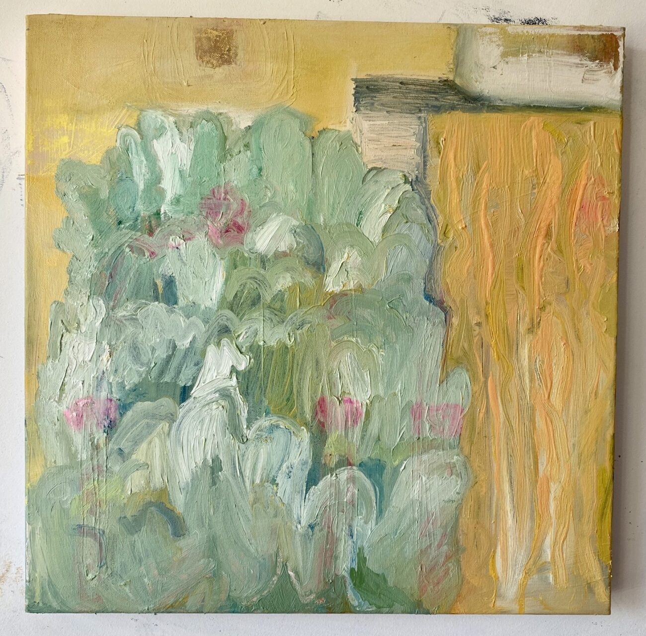 Midsummer on Medlock acrylic and oil on canvas 50x50cm