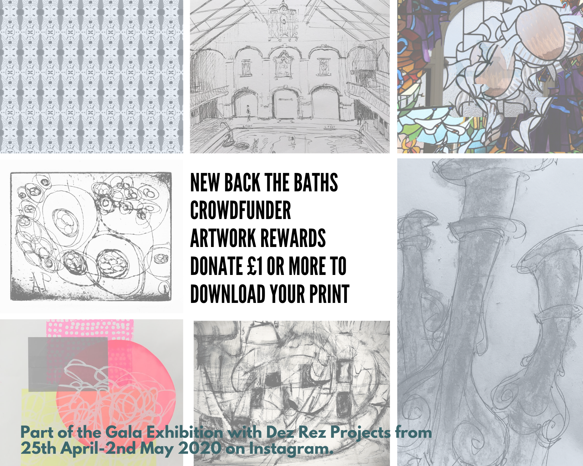 Back the Baths Crowdfunder rewards donated by the artists.