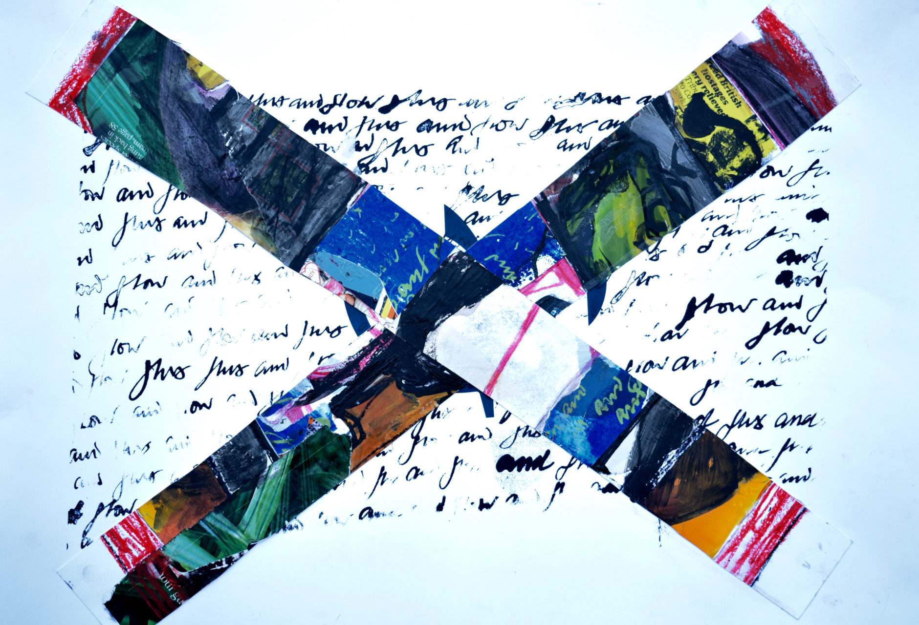 Mixed media, painted collage and screen print. A3 original £45
